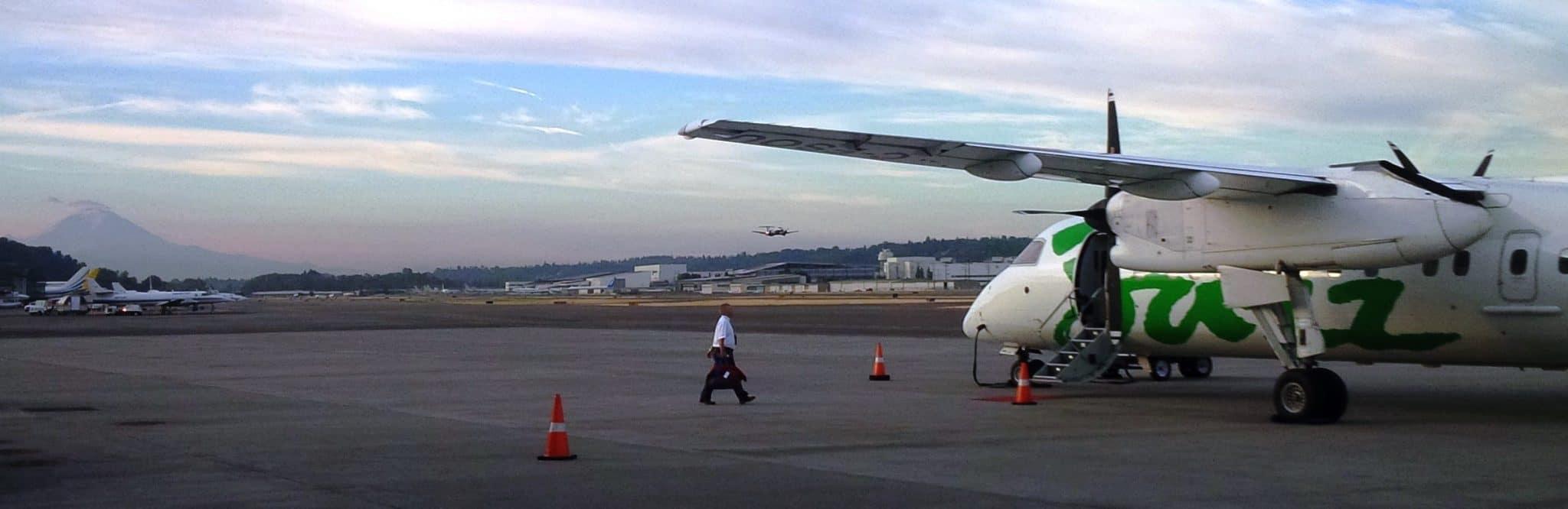 Aircraft on runway